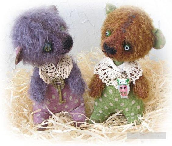 Мишки, зайки, ежики - авторские игрушки Натальи Толстыкиной