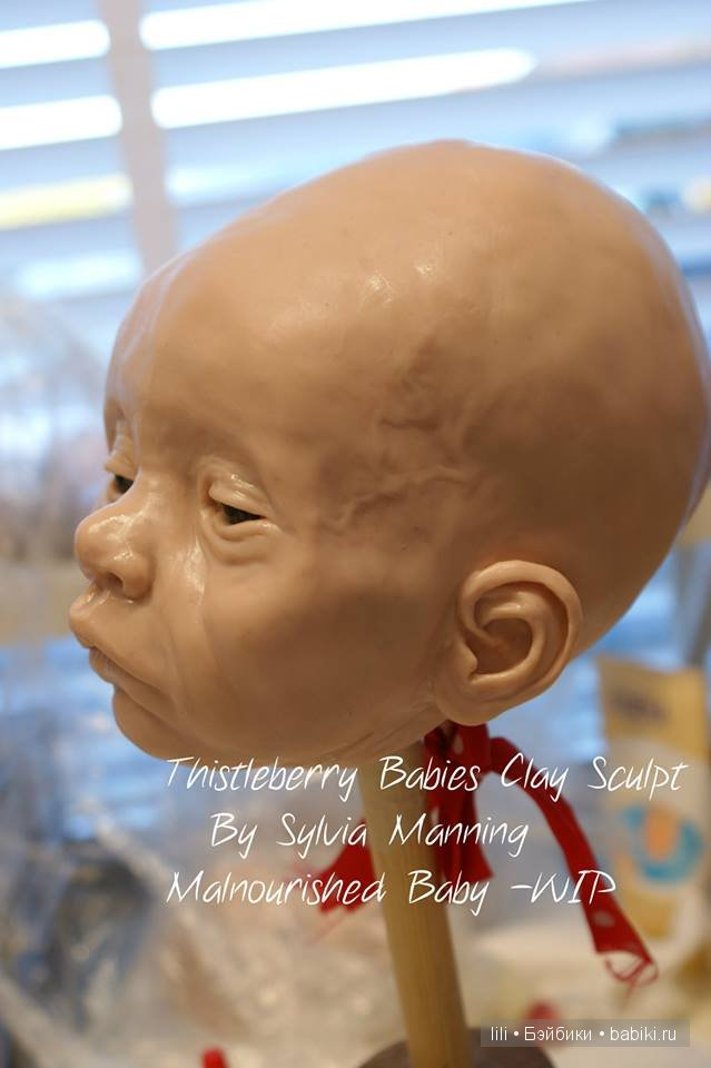Недоедающий малыш, авторская кукла Sylvia Manning Thistleberry Babies
