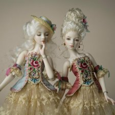 Новые шарнирные куклы Маргариты Цветковой. Рококо и Секрет