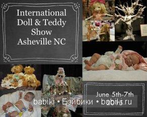 Выставка кукол и мишек Тедди - International Doll and Teddy Show Asheville NC, США 5 — 7 июня 2015