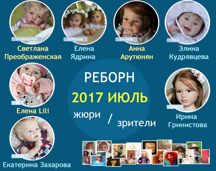 Жюри. Авторский конкурс. Лучшая кукла реборн - июль 2017