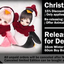 В Рождественский ивент Withdoll дают скидку 15% на покупку целых кукол