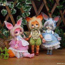 """DollPamm будут продовать с 15 по 31 декабря Zoo Series - зайку """"MOCO"""" и лиса """"SIPO"""""""