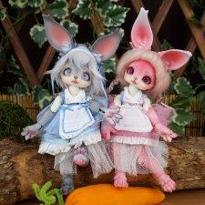 Зоо серия от Dollpamm - зайка Moco и лисичка Sipo