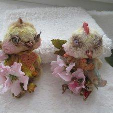 Выкройка брошки тедди - Цыпочки, в подарок от Светланы Кошевой