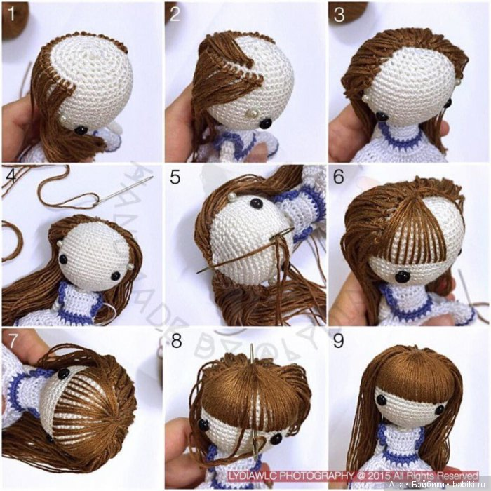 Волосы кукле своими руками мастер класс фото 888