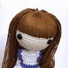 как пришить волосы вязанной кукле как сделать кукле волосы парик