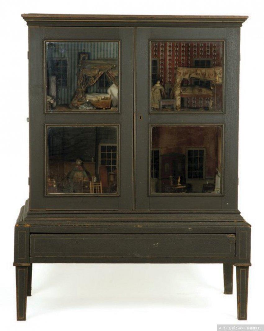 Английский кабинет - кукольный домик, XVIII век