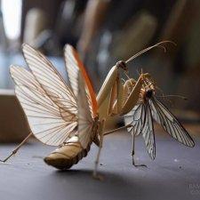Скульптуры насекомых Noriyuki Saitoh, Япония
