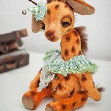 Выкройка игрушки жирафа