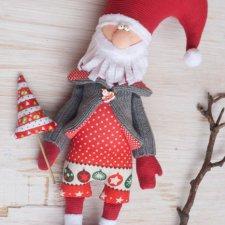 Дед Мороз из ткани с выкройкой