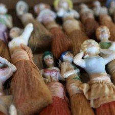 Куклы-половинки кисточки, начало XX века