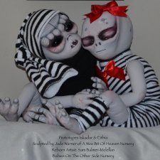 Eithia & Iskadar скульптора Jade Warner, автор прототипов A Wee Bit Of Heaven Reborn Nursery