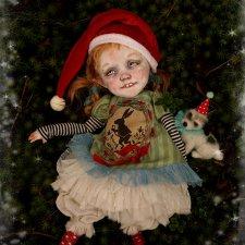 Новогодний эльфик Крис от Kardenchiki art dolls