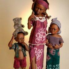 Коллекционные этнические куклы Bets & Amy Van Boxel, коллекция 2014 года