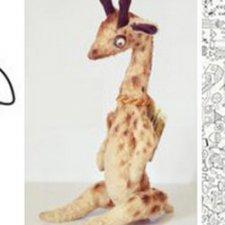 Выкройка жирафа, автор игрушки Бусыгина Светлана