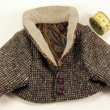 Выкройка пиджака и брюк для мишки тедди 33 см