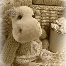 Мотя - Бегемотя. Автор выкройки игрушки Elena Evidaida