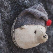 """Выкройка броши """"Полярный мишка"""" от Натальи Сурановой"""