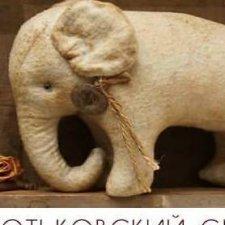 Хотьковский слоник, выкройка игрушки от Виктории Макаровой