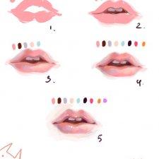 Способы рисования губ для кукол