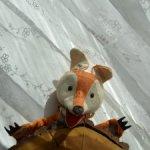 1950!Лисичка на руку Би-Ба-Бо!Открывает пасть,виляет хвостиком-идеальный сохран!