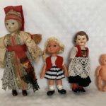 Разные винтажные куколки, клоуны
