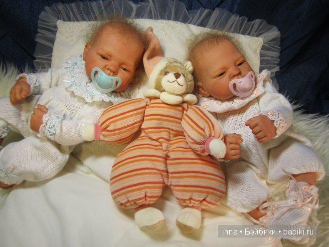 Крошки Ева и Сева-куклы реборн Инны Богдановой.