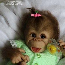 Бинки... обезьянка реборн Виктории Вишни