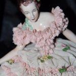 Изящная балерина из кружевного фарфора , Германия.8500 р.