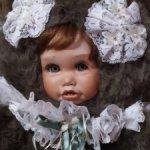 Очень милая Мишечка с личиком из молда от Синди Рольф