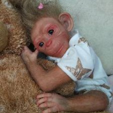 Бонька-обезьянка реборн Рязановой Елены
