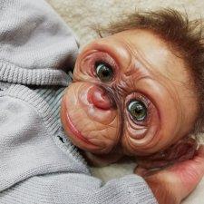 Клайд-обезьянка  реборн Рязановой Елены