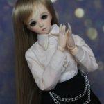 Кукла обитсу obitsu 27 см со вставными глазами