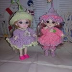 Вязаные костюмчики для Баболичек и куколок похожих по размеру.