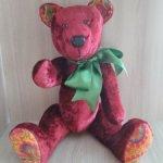 Медведица Малинка из винтажного плюша