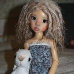 Зайчик для Куклы, игрушка ручной работы