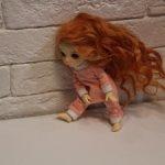 Парик рыжий для пукифи и других кукол с ОГ 14см