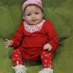 лот 32: красный комплект на куклу 50-60 см.