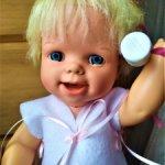 Винтажная кукла с механизмом 2 выражения лица (360.7)