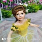 прекрасная балерина Антуанетта , в желтом (377.2)