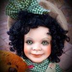 Кукла фарфоровая коллекционная Buttons & Rags