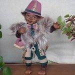 Юный Шишок и обезьянки. Авторские куклы ручной работы