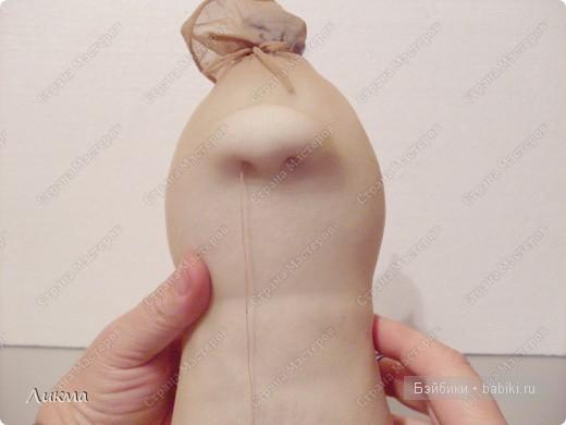 мастер-класс куклы из капроновых чулок и носков распашной