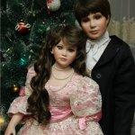 Nathan и Natalie, фарфоровые куклы от Тельма Реш