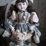 Редкая фарфоровая кукла для коллекции. Старый выпуск 1998 г ,Ремеко. Распродажа.