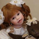 Тебя солнце улыбкой своей обласкало и наполнило жизнью и светом своим … авторская кукла Джули Фишер, Julie Fischer