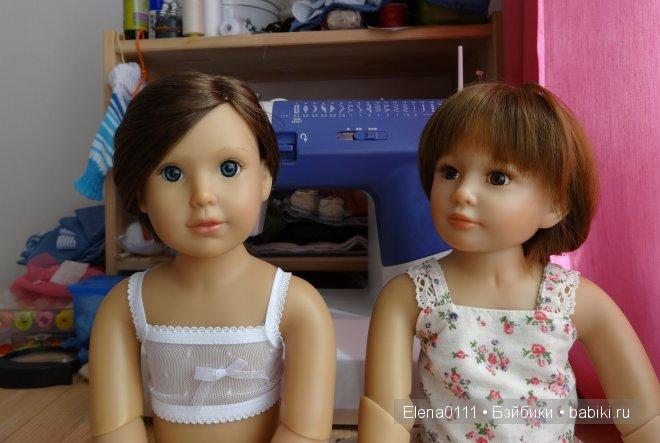 Сравнение возможностей шарниров двух кукол Kidz-n-Cats