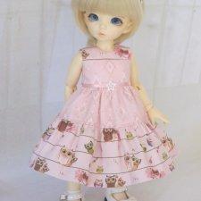 """Платье """"Совушки"""" для БЖД Литлфи (littlefee) и кукол аналогичного размера."""