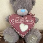 Нежный мишутка Тедди с розовым велюровым сердцем